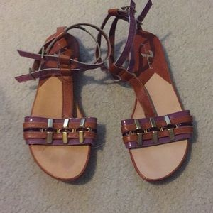 7 for all mankind sandals size 6.5.